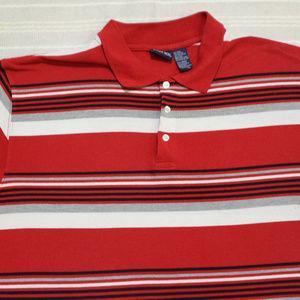 Vintage BUGLE BOY Striped Polo Shirt